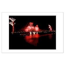 Fireworks - GG Bridge Large Poster