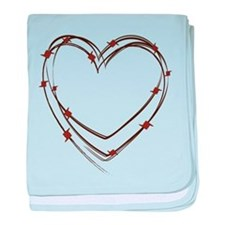 Barbed Wire Heart baby blanket