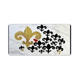 Fleur de lis black and gold Aluminum License Plate