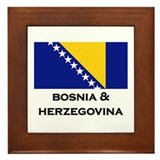 Bosnia & Herzegovina Flag Stuff Framed Tile
