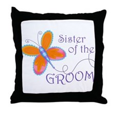 Sister of the Groom Throw Pillow