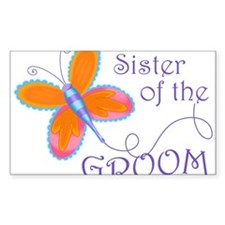 Sister of the Groom Decal