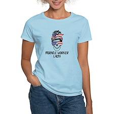 Irish Charm Dotted Shamrock 3/4 Sleeve T-shirt (Da