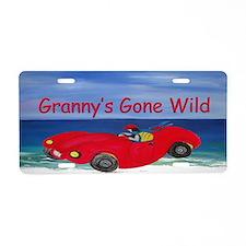 Grannys Gone Wild Aluminum License Plate