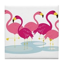 Flamingos Tile Coaster
