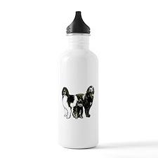 Newfoundland dog family Water Bottle