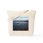 USS Nimitz - Golden Gate Bridge Tote Bag