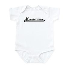 Black jersey: Marianna Infant Bodysuit