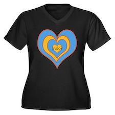 IMG_8227.JPG Women's Plus Size V-Neck Dark T-Shirt