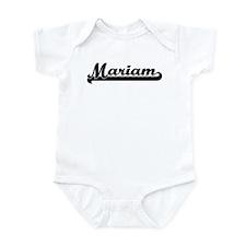 Black jersey: Mariam Infant Bodysuit