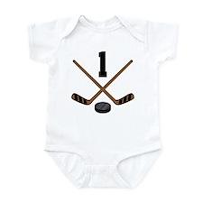 Hockey Player Number 1 Infant Bodysuit