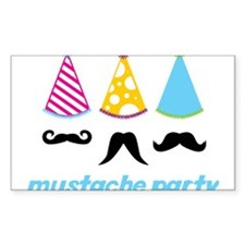 Mustache Party Decal