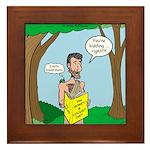 John the Baptist Diet Framed Tile