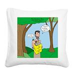 John the Baptist Diet Square Canvas Pillow