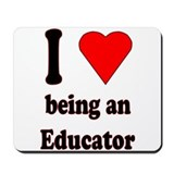 I heart...Educator Mousepad