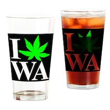 I Love WA Drinking Glass
