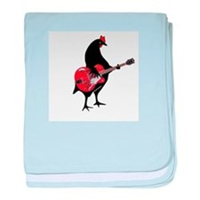 Guitar Chicken - color baby blanket