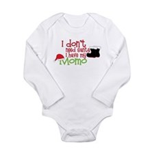 I Dont Need Santa Long Sleeve Infant Bodysuit