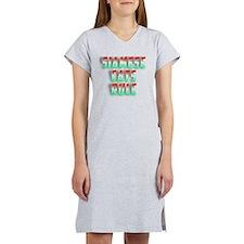 I Paw BO Women's Plus Size V-Neck Dark T-Shirt