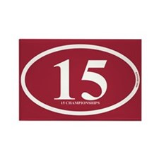 15 Championships Rectangle Magnet