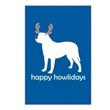 "Bullmastiff ""Happy Howlidays"" Postcards (Package o"