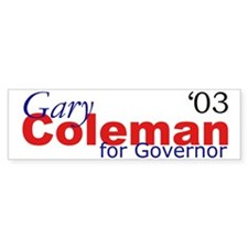 Coleman Bumper Car Sticker