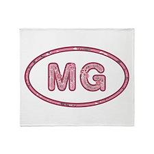 MG Pink Throw Blanket