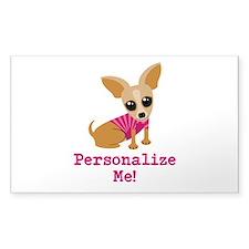 Custom Pink Chihuahua Decal