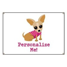 Custom Pink Chihuahua Banner