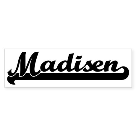 Black jersey: Madisen Bumper Sticker