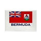 Bermuda Flag Gear Rectangle Magnet
