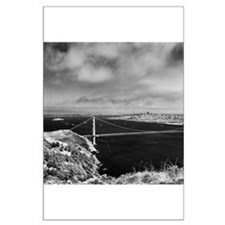 GG Bridge from Hawk Hill Large Poster
