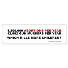 Abortions Not Guns Kill Children, Bumper Sticker
