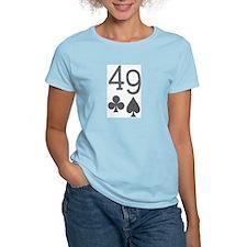 Forty Niner - 49 - Gold Rush Poker Women's Pink T-