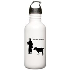Have goat, will travel Sports Water Bottle