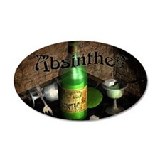 Absinthe Still Life On Tray Wall Decal
