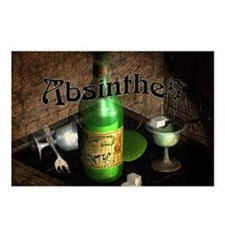 Absinthe Still Life On Tray Postcards (Package of