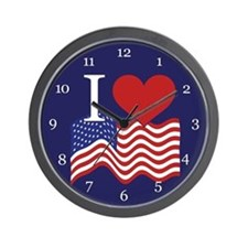 I LOVE USA Clock