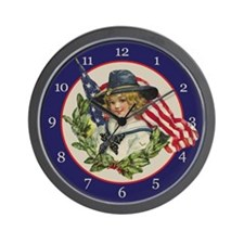 Patriotic Girl Clock