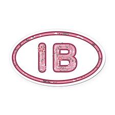 IB Pink Oval Car Magnet