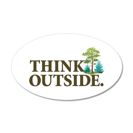 Think Outside 20x12 Oval Wall Decal