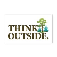 Think Outside Rectangle Car Magnet