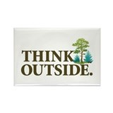 Think Outside Rectangle Magnet