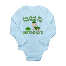 First St Patrick's Day Birthday Long Sleeve Infant