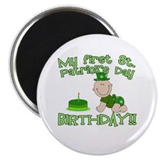 First St Patrick's Day Birthday Magnet