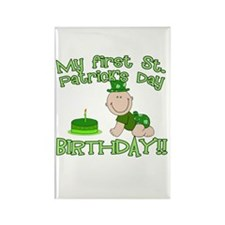 First St Patrick's Day Birthday Rectangle Magnet