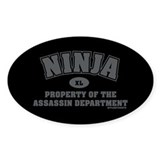 Ninja Department Oval Decal