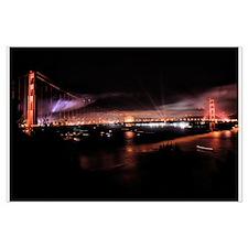 Fireworks - Golden Gate Bridge Large Poster