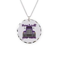 Personalized How I Roll Trucker Necklace