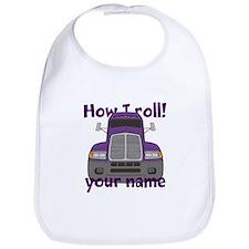 Personalized How I Roll Trucker Bib